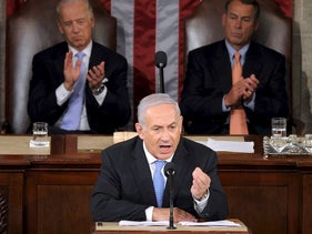 Benjamin Netanyahu speaks in Congress, March 3, 2015.