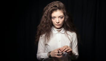 New Zealand singer Lorde.