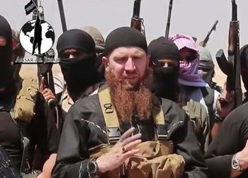 Omar al-Shishani, ginger beard, is a prominent Chechen member of the Islamic State.
