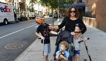 Attorney Alona Vinograd as a stay-at-home mom in New York, 2015.