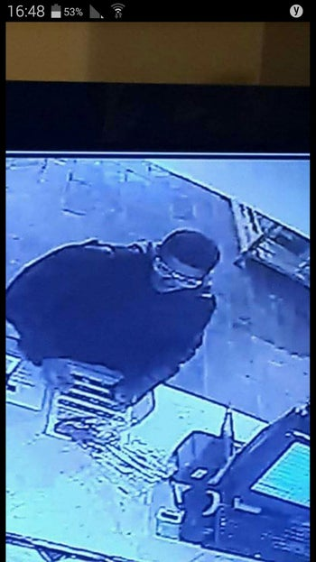 A screenshot from security footage showing the gunman who killed two and wounded several others in central Tel Aviv on January 1, 2016 .