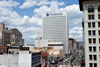 Prudential Financial Inc. headquarters stands in Newark, New Jersey, on May 12, 2009.