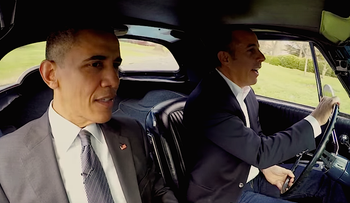 President Barack Obama with Jerry Seinfeld in an episode of 'Comedians in Cars Getting Coffee.'