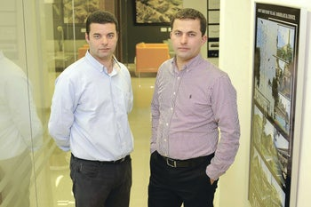 Ashraf and Ayman Tivoni, two brothers who run Tivoni Architects and Engineers.