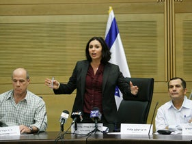 "Israel's Minister of Culture Miri Regev. Singing a tune similar to that of her counterparts in Egypt, when they demanded that local authors write in accordance with ""Egyptian values"" if they want their books to be published by government printing houses."