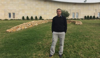 Detainee Mohammed al-Qiq,  a married father of two who works as a journalist in Ramallah.