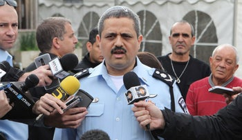 Police Chief Roni Alsheich in Karmiel, January 5, 2016.