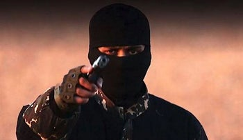 Image from an ISIS video of gunmen who is now being dubbed the 'new Jihadi John.'