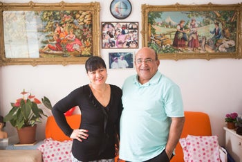 Moshe and Rina Hizmi, married for almost eight years.