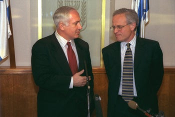 Netanyahu and Indyk in 1999.