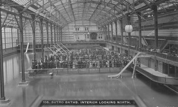 The Sutro Baths, visited by the Adolph Sutro & Ladies of National Medical Convention, June 8, 1894.