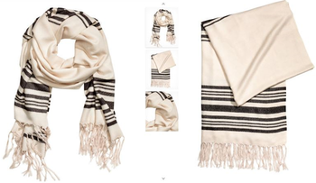 H&M scarf looks remarkably like a tallit, or Jewish prayer shawl.