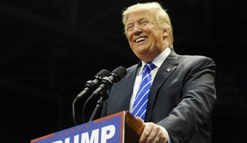 Republican presidential candidate Donald Trump speaks during a campaign stop at Winthrop University on Jan. 8, 2016, in Rock Hill, S.C.