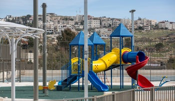 The playground in Beit Hanina that was built on land purchased by residents.