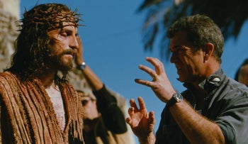 Mel Gibson on the set of 'The Passion of The Christ.'