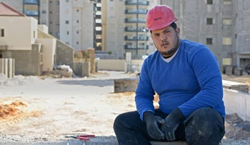 Nedal Antar at a Migdal HaEmek construction site, January 1 2016.