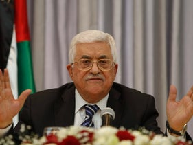Palestinian President Mahmoud Abbas at a press conference in the West Bank city of Bethlehem, Jan. 6, 2016.