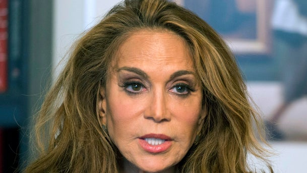 Pamela Geller speaks during an interview at The Associated Press in New York.