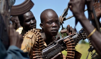 Fighters in South Sudan. 2014.