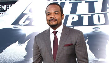"Director F. Gary Gray arrives at the LA premiere of ""Straight Outta Compton"" (the only best-picture contender without a white protagonist), August 10, 2015."