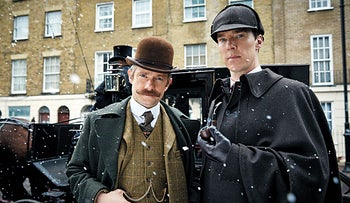 """A scene from """"Sherlock: The Abominable Bride."""""""