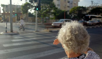 An elderly Israeli crossing the road. There was a 50-percent increase last year in the number of golden-agers killed in road accidents, according to new reports.
