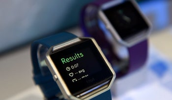 The Fitbit Blaze fitness tracker at the 2016 Consumer Electronics Show  in Las Vegas, Nevada, on Jan. 8, 2016.