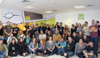 JFrog employees at the company's research and development center in Netanya.
