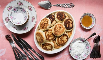 Syrniki, or cheese pancakes, from the upcoming Soviet cookbook.