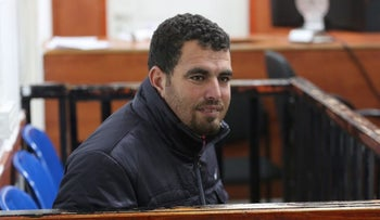 Nasser Nawaja at the Ofer Military Court, January 24, 2016.