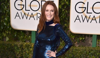 Julianne Moore at the 73rd annual Golden Globe Awards, January 10, 2016.