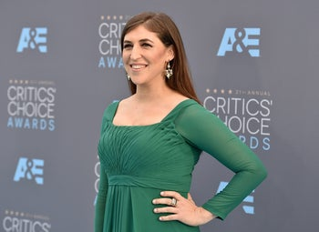 Mayim Bialik at the 21st annual Critics' Choice Awards, January 17, 2016.