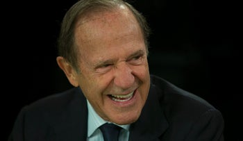 """Mortimer """"Mort"""" Zuckerman, chairman and chief executive officer of Boston Properties Inc., laughs before a Bloomberg Television interview in New York, U.S., on Monday, Oct. 7, 2013."""