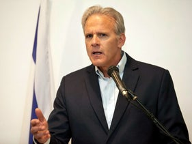 Michael Oren speaks at an event.