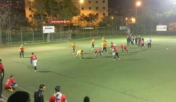Action from the AFI Men's Flag Football League, January 22, 2016.