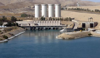 This file photo taken on October 31, 2007 shows a general view shows the Mosul dam on the Tigris River around 50 kilometers north of the northern Iraqi city of Mosul.