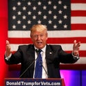 Donald Trump speaks at a veteran's rally in Des Moines, Iowa January 28, 2016.