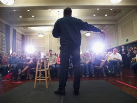 Republican presidential candidate Sen. Marco Rubio (R-FL) speaks to guests at a town hall style meeting on January 29, 2016 in Dubuque, Iowa.