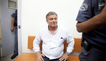 Haim Avitan in court in 2013, accused of corruption.