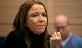 MK Shelly Yacimovich (Zionist Union) during a Knesset Education Committee meeting, December 2015.