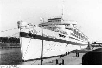 The Wilhelm Gustloff, docked in Danzig