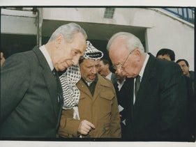 Peres, Rabin and Arafat in 1995.