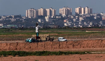 Drilling on the Gaza border in search for Hamas tunnels, February 3, 2015.