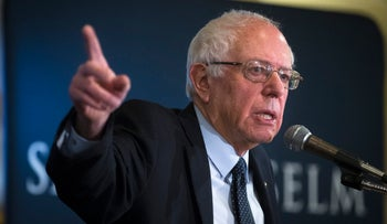 Bernie Sanders at a campaign event in Manchester, New Hampshire, Feb. 5, 2016.