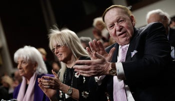 Sheldon Adelson and his wife, Miriam.