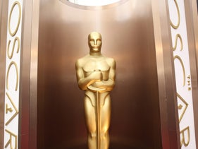 In this March 2, 2014 file photo, an Oscar statue is displayed at the Oscars at the Dolby Theater in Los Angeles.