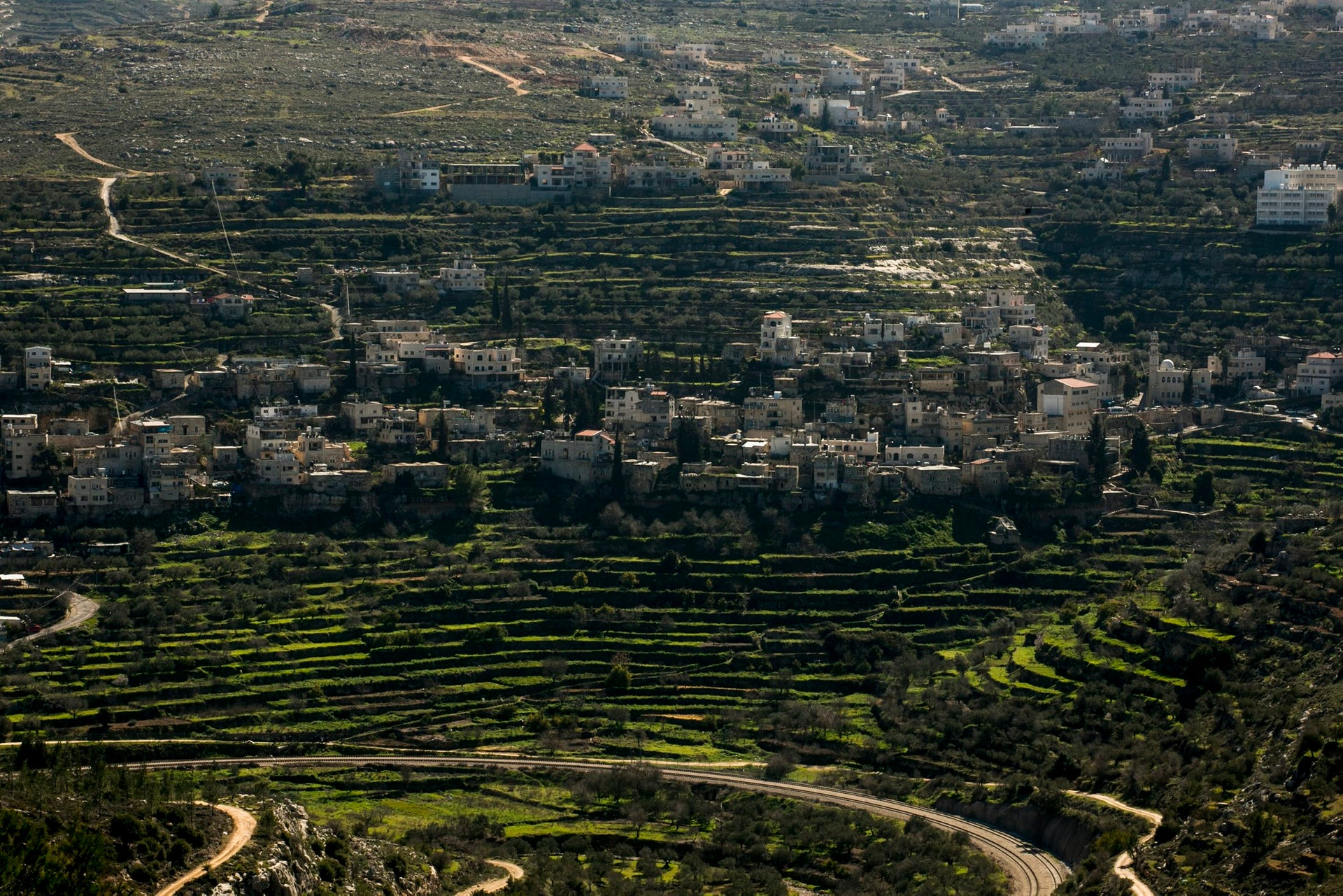 The terraces in the Palestinian village of Battir, south of Jerusalem. Built during the Ottoman era?