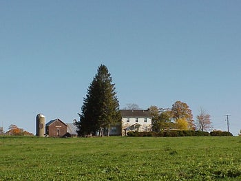 The farm run by Max Yasgur, who agreed to host Woodstock, even if he didn't quite realize how many people would show up.