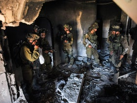 Israeli soldiers in Gaza during Operation Protective Edge, 2014