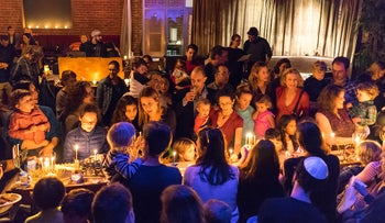 The Kitchen in San Francisco holding a Hanukkah celebration, December 9, 2015.